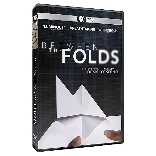 A DVD cover with an image of white folded paper, with white text on a black background.