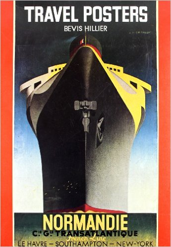A book cover with a graphic illustration of a cruise ship from a frontal perspective, in black and yellow tones, framed by vertical red strips on left and right. The title text is white and yellow.