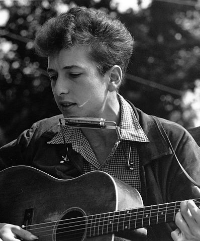 Photo of Bob Dylan at Civil Rights March on Washington