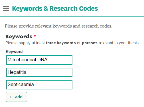 Keywords - Thesis Self Deposit - A Guide - Guides At Victoria University Of  Wellington