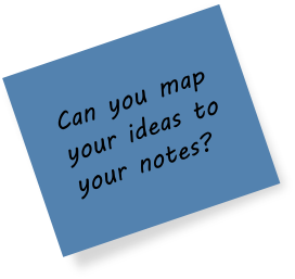 Can you map your ideas to your notes?