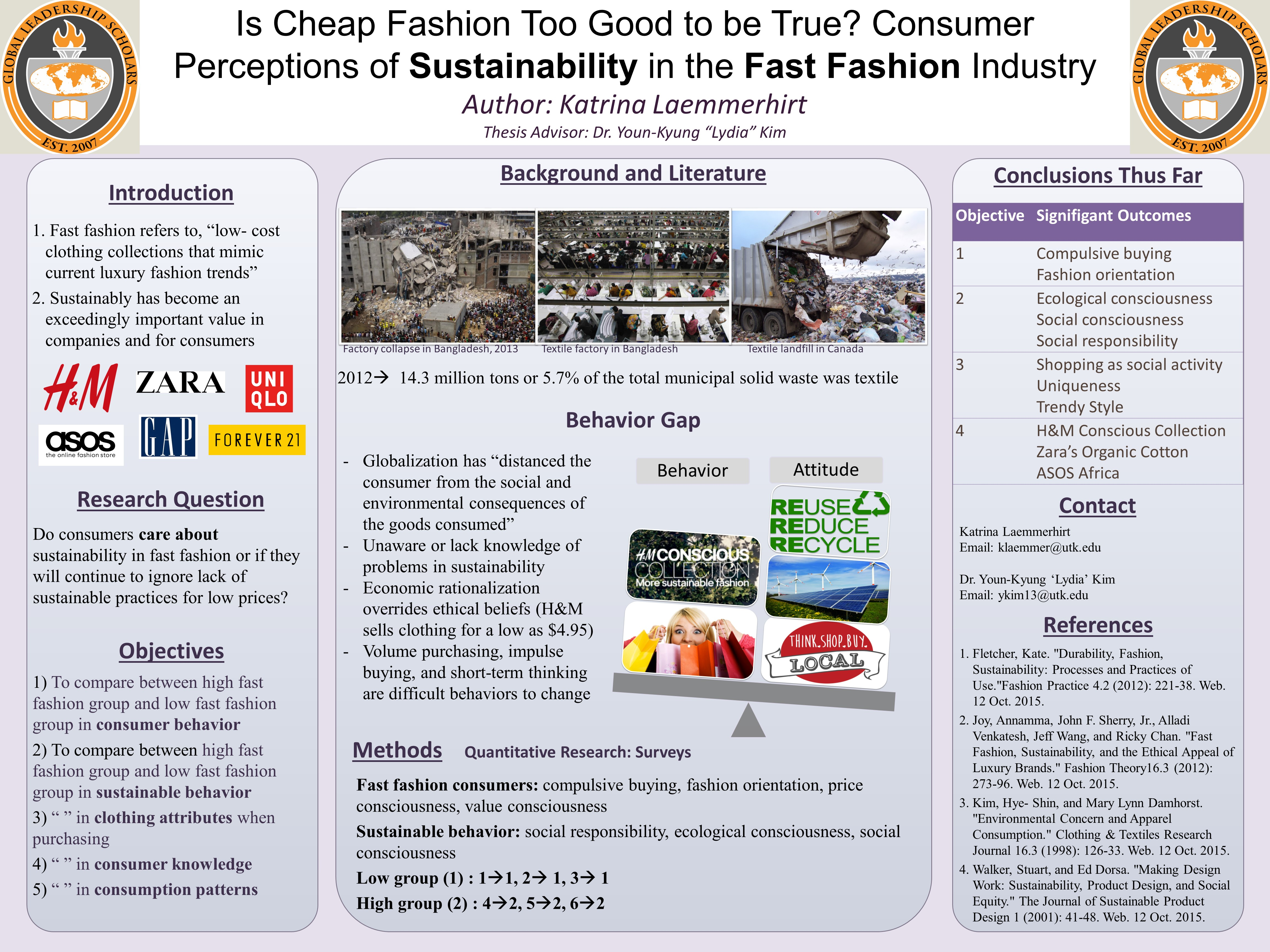 Is Cheap Fashion Too Good to be True? Consumer Perceptions of Sustainability in the Fast Fashion Industry