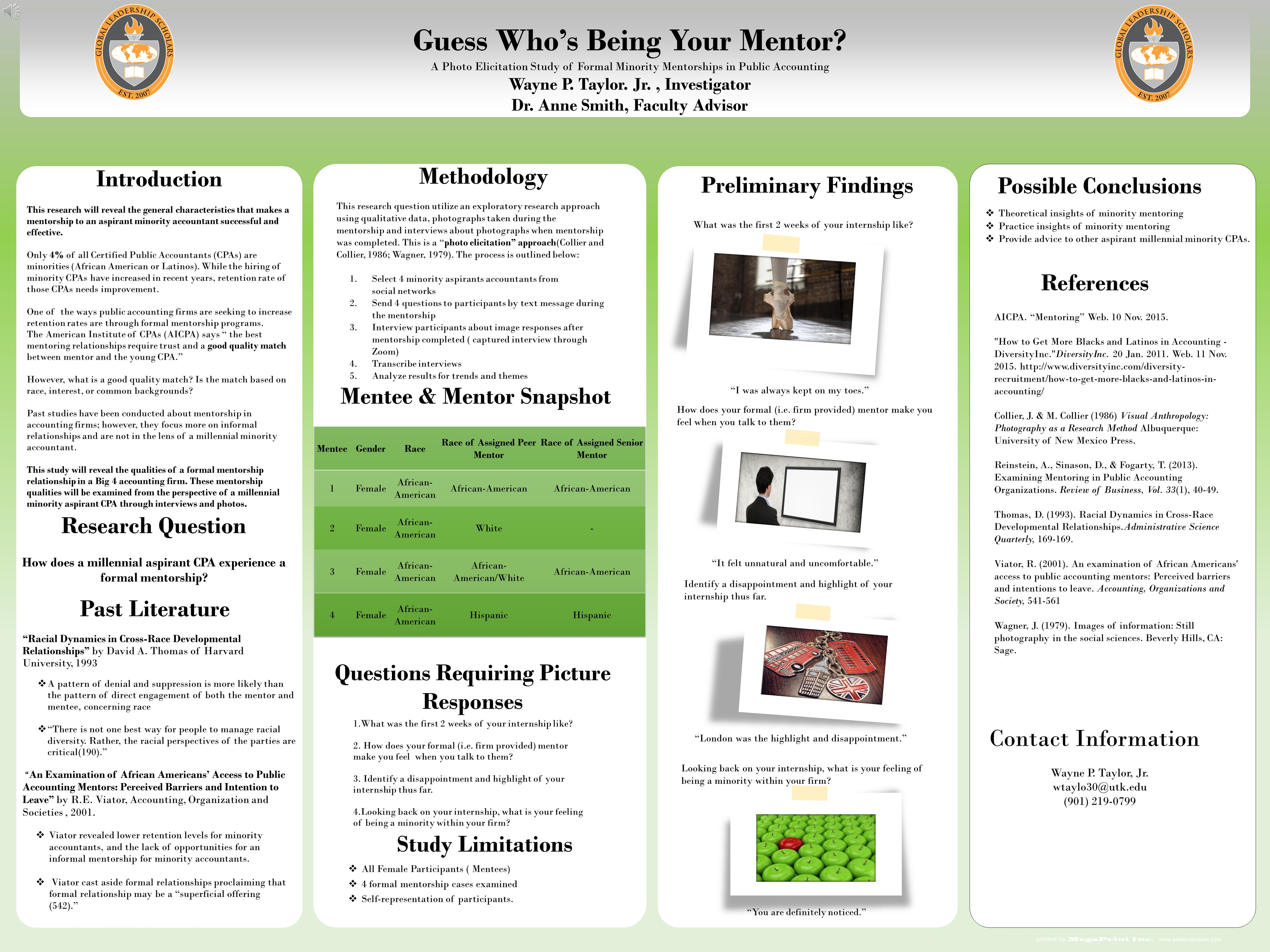Guess Who's Being Your Mentor?  A Photo Elicitation Study of Formal Minority Mentorships in Public Accounting