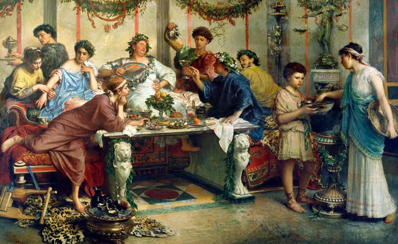 A Meal in Roman Times by Roberto Bompiani