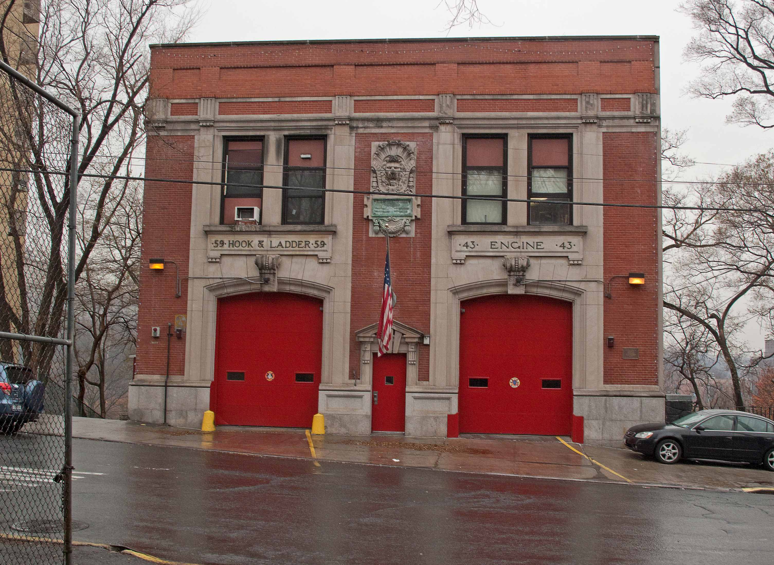 The quarters of Engine 43 and Ladder 59, located in Morris Heights Bronx NYC