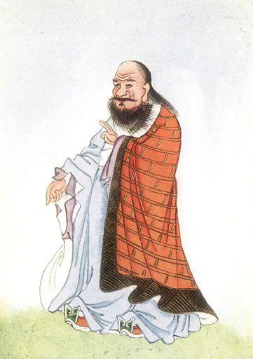 Depiction of Laozi in E. T. C. Werner's Myths and Legends of China