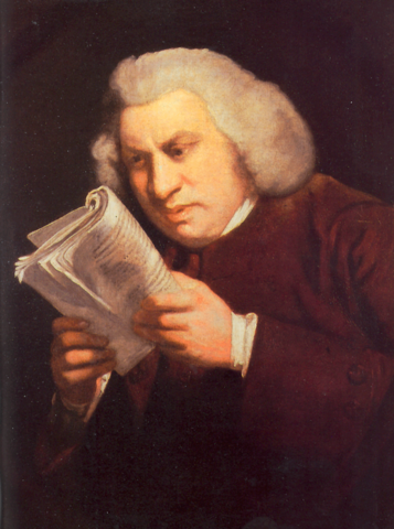 Samuel Johnson Reading by Joshua Reynolds