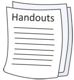 Screenshot of paper sheets titled handouts