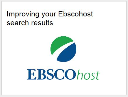Improving your Ebscohost Search Results