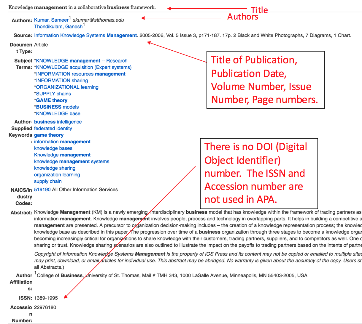 How to Cite an important Journal within Print during APA