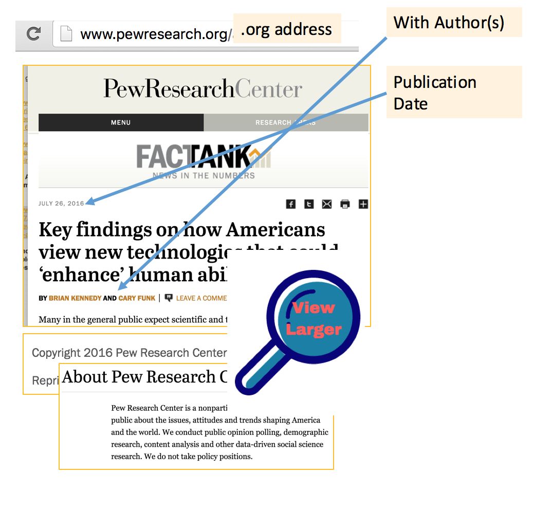 Image of Pew Research Center article with authors.