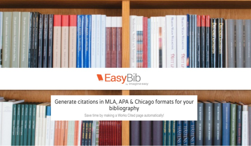 Use EasyBib for MLA, APA and other citation help
