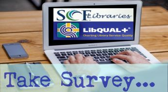 The State College of Florida Libraries ask for feedback.