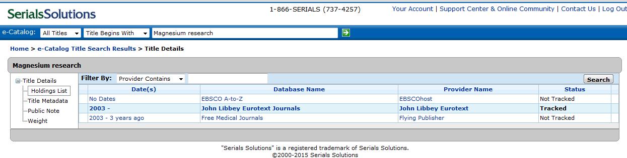 profiling a database