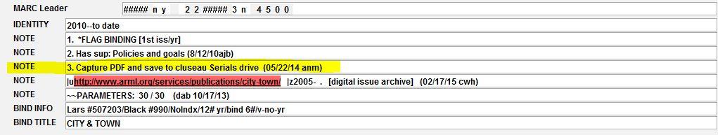 PDF Capture instructions