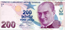 Turkish Lira 200 note