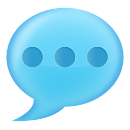 texting bubble with three dots icon