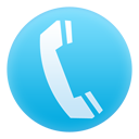 telephone icon in blue circle