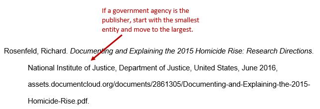 Rosenfeld, Richard. Documenting and Explaining the 2015 Homicide Rise: Research Directions. National Institute of Justice, Department of Justice, United States, June 2016, assets.documentcloud.org/documents/2861305/Documenting-and-Explaining-the-2015-Homicide-Rise.pdf.