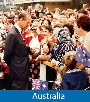 'Prince Philip during a walkabout of Bankstown, 1980'