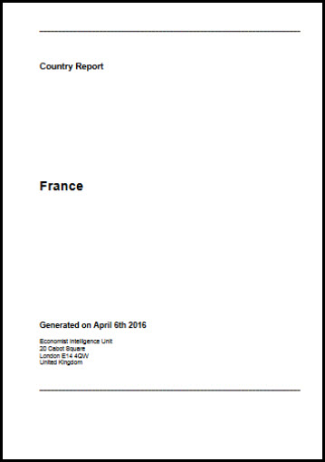 Economist Intelligence Unit Country Report France