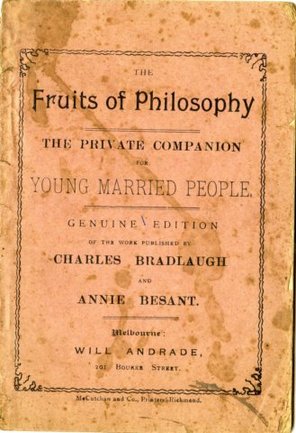 Cover image of The Fruits of Philosophy: Young Married People's Companion