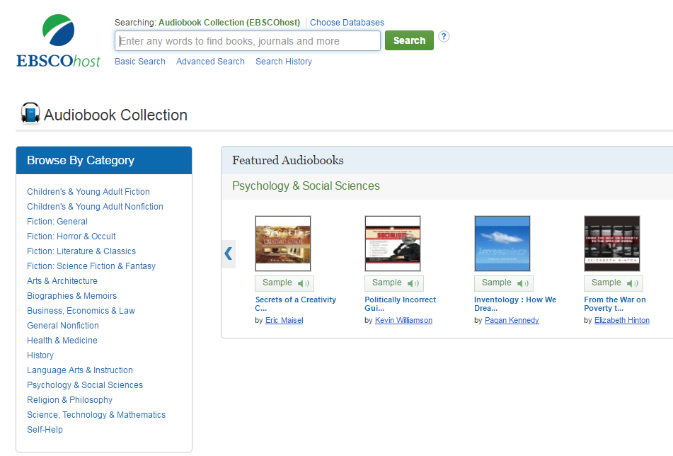 Accessing Audiobooks - Library Information - LibGuides at Florida