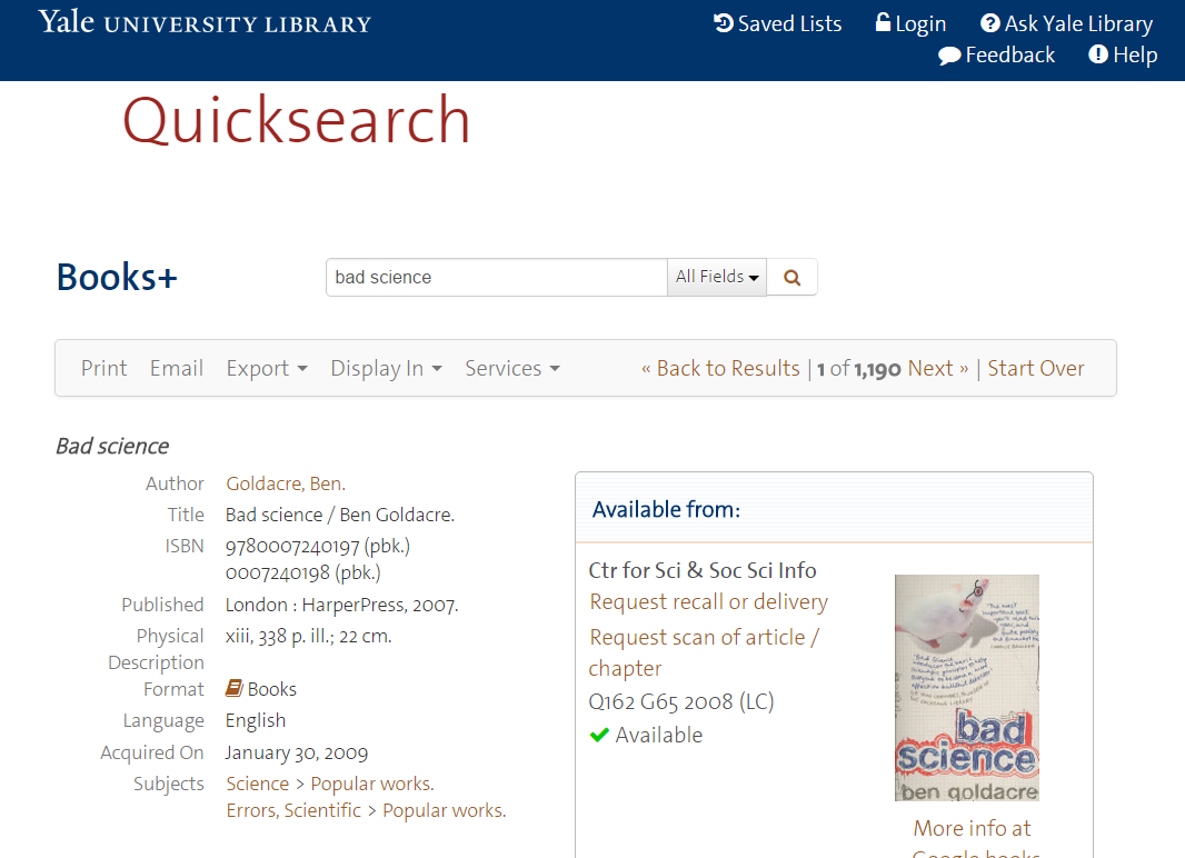 Quicksearch screenshot