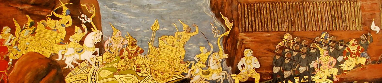 Temple Mural at Grand Palace, Bangkok, Thailand