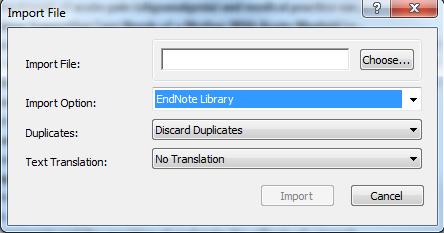 Import file dialog