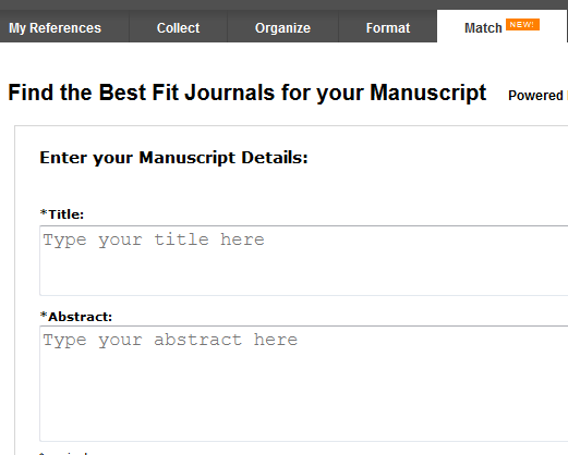 Find the Best Fit Journals for your Manuscript