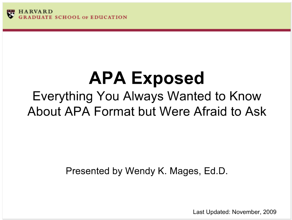 APA Exposed Tutorial