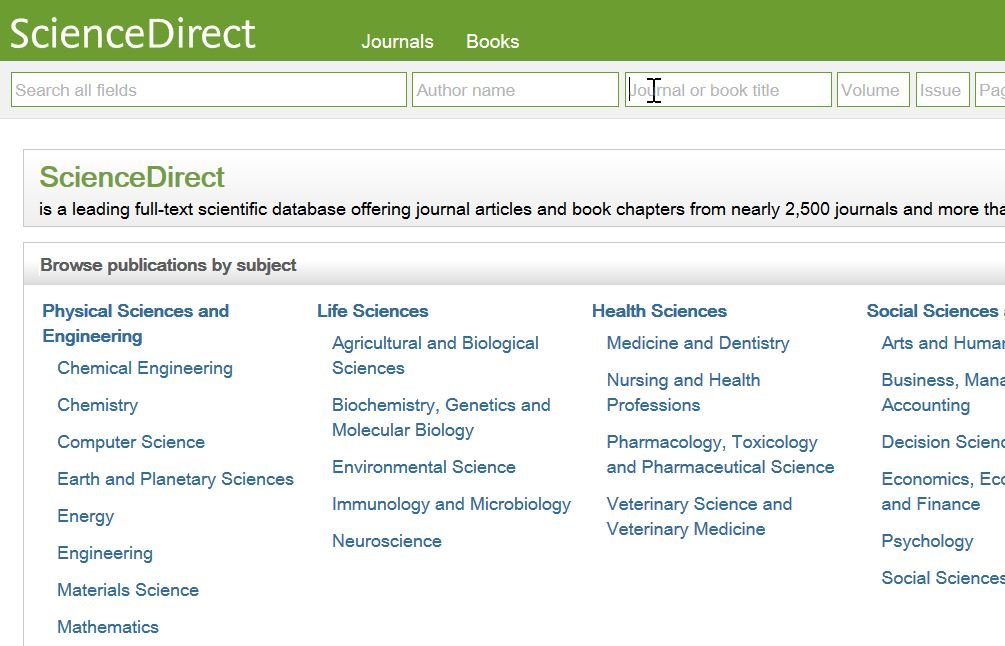 Finding Sources - Biology 3301 Course Guide - Subject and