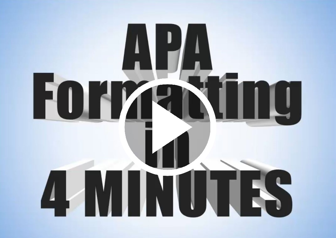 Video Instruction Formatting APA Guide Based