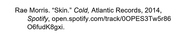 how to cite spotify