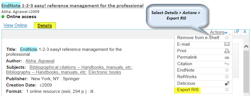 EndNote 1 - 2 - 3 Easy!: Reference Management for the Professional
