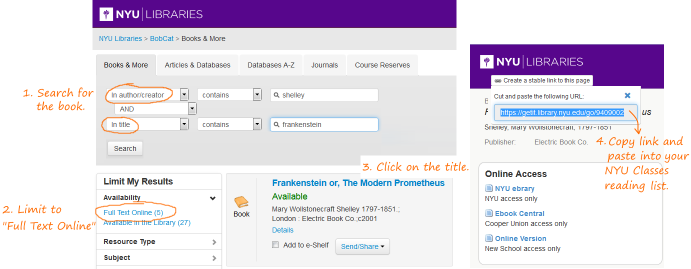Course Content via NYU Libraries - Affordable and Open