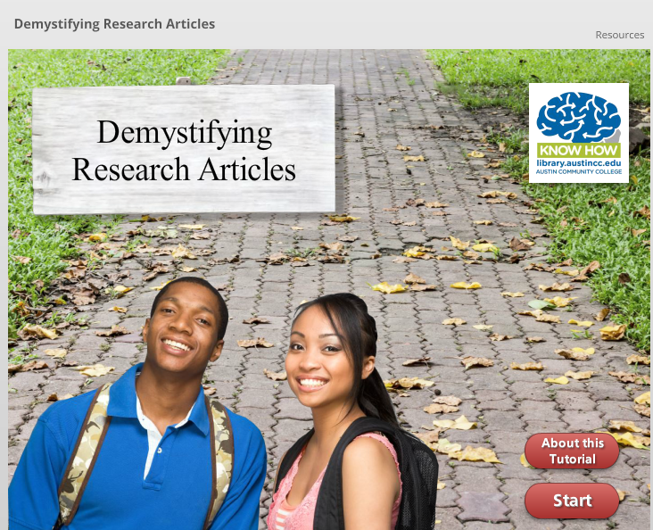 Demystifying Research Articles