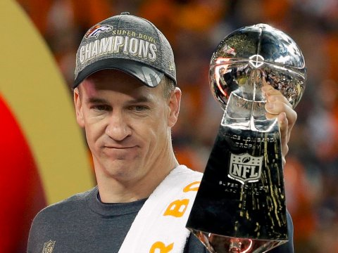 Peyton Manning at the Super Bowl