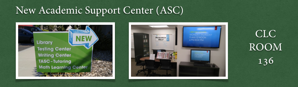Academic Support Center Room 136