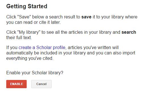 google scholar profile search