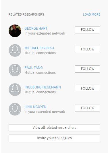 sending invitation researchgate libguides at university of