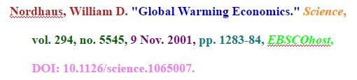 MLA citation sample