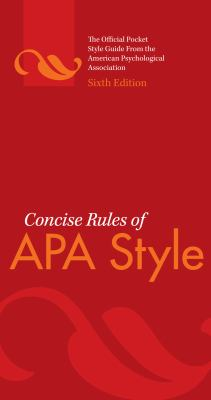 APA Style Book Cover