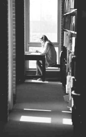 A Student Studying in the Library, 1978.