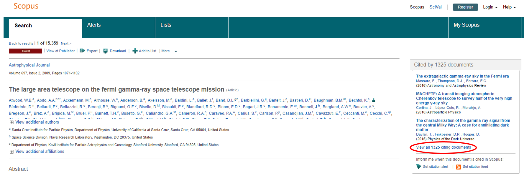 "screenshot of scopus record with ""citing documents"" highlighted"