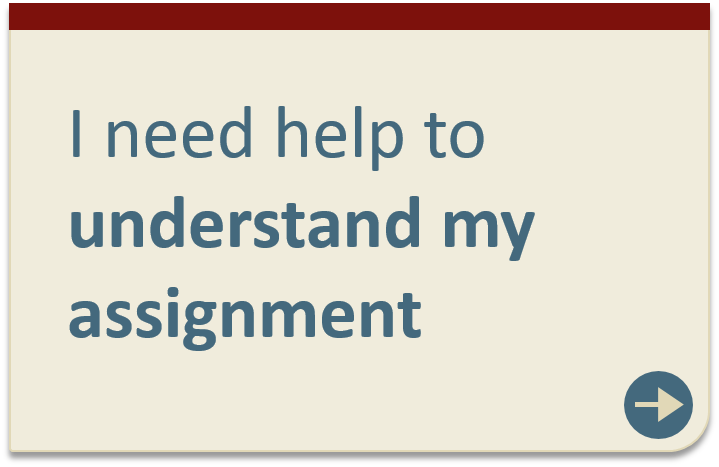 Understanding my assignment