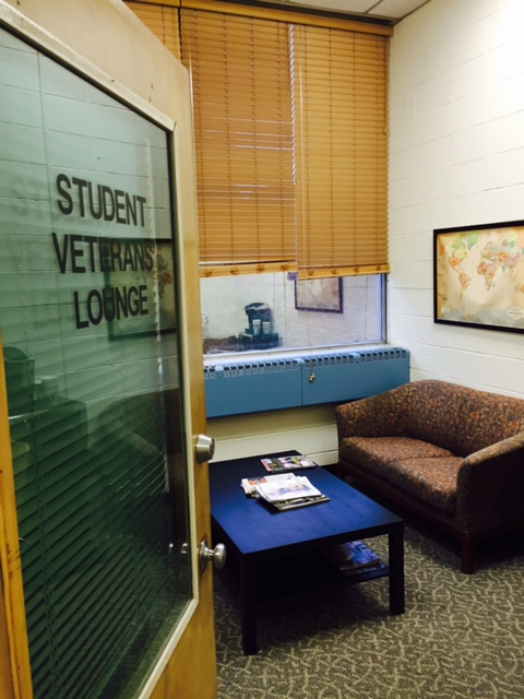 photo of Student Veterans lounge