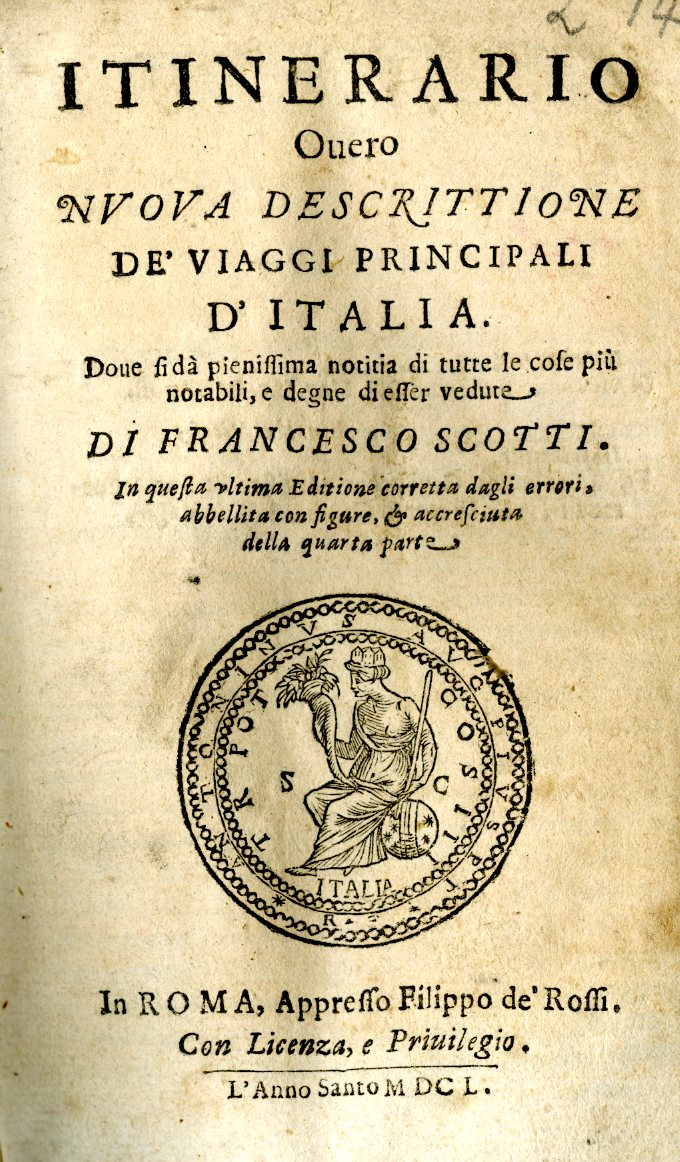 Image of Italian Travel Guide from 1650