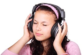 Image of a girl with headphones